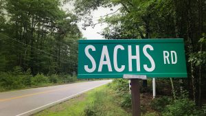 Sachs Road Sign